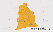 Political Map of Segbana, cropped outside
