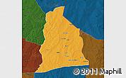 Political Map of Segbana, darken