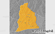 Political Map of Segbana, desaturated