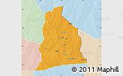 Political Map of Segbana, lighten