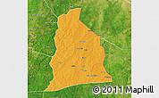 Political Map of Segbana, satellite outside
