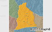 Political Map of Segbana, semi-desaturated