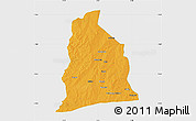 Political Map of Segbana, single color outside