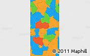 Political Simple Map of Borgou