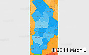 Political Shades Simple Map of Borgou