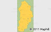 Savanna Style Simple Map of Borgou, cropped outside
