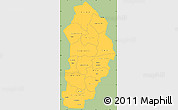 Savanna Style Simple Map of Borgou, single color outside