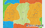 Physical Map of Sinende, political outside