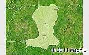 Physical Map of Sinende, satellite outside