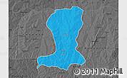 Political Map of Sinende, darken, desaturated