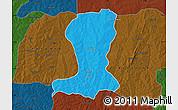 Political Map of Sinende, darken