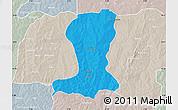 Political Map of Sinende, lighten, semi-desaturated