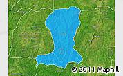 Political Map of Sinende, satellite outside
