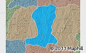 Political Map of Sinende, semi-desaturated