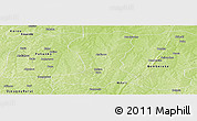 Physical Panoramic Map of Sinende