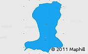 Political Simple Map of Sinende, single color outside