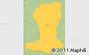 Savanna Style Simple Map of Sinende