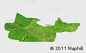 Satellite Panoramic Map of Tchaourou, single color outside