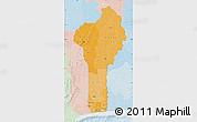 Political Shades Map of Benin, lighten