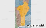 Political Shades Map of Benin, semi-desaturated