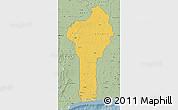 Savanna Style Map of Benin