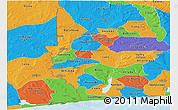 Political Panoramic Map of Mono