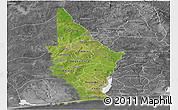 Satellite Panoramic Map of Mono, desaturated