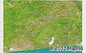 Satellite Panoramic Map of Mono