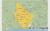Savanna Style Panoramic Map of Mono