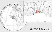 Blank Location Map of Toviklin