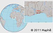 Gray Location Map of Toviklin