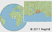 Savanna Style Location Map of Toviklin