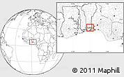 Blank Location Map of Bonou