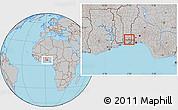 Gray Location Map of Bonou