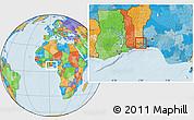 Political Location Map of Bonou