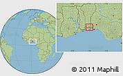 Savanna Style Location Map of Bonou