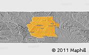 Political Panoramic Map of Ketou, desaturated