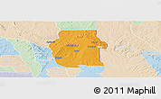Political Panoramic Map of Ketou, lighten