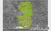 Satellite Panoramic Map of Oueme, desaturated