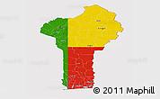 Flag Panoramic Map of Benin