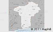 Gray Panoramic Map of Benin