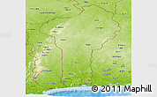 Physical Panoramic Map of Benin