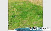 Satellite Panoramic Map of Benin