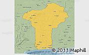 Savanna Style Panoramic Map of Benin