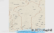 Shaded Relief Panoramic Map of Benin