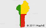 Flag Simple Map of Benin