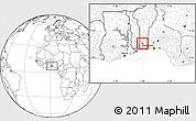 Blank Location Map of Agbangnizoun