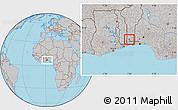Gray Location Map of Agbangnizoun