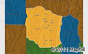 Political Map of Bante, darken