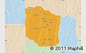 Political Map of Bante, lighten